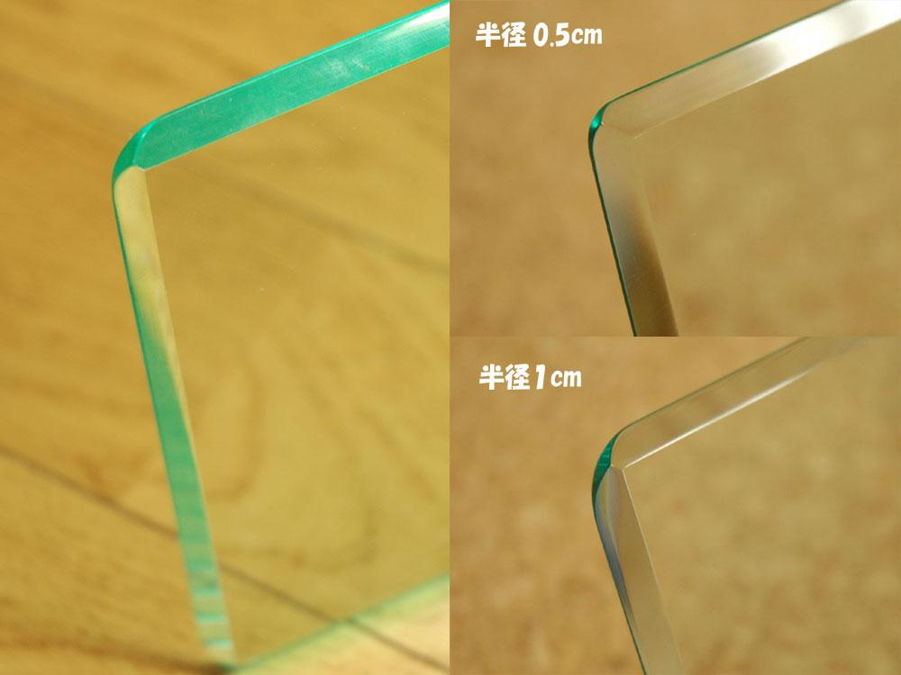 角丸め+面取り45度+鏡面磨き