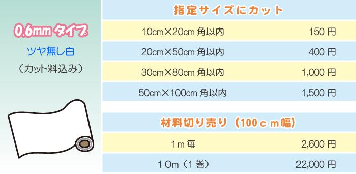 マグネットシート価格表