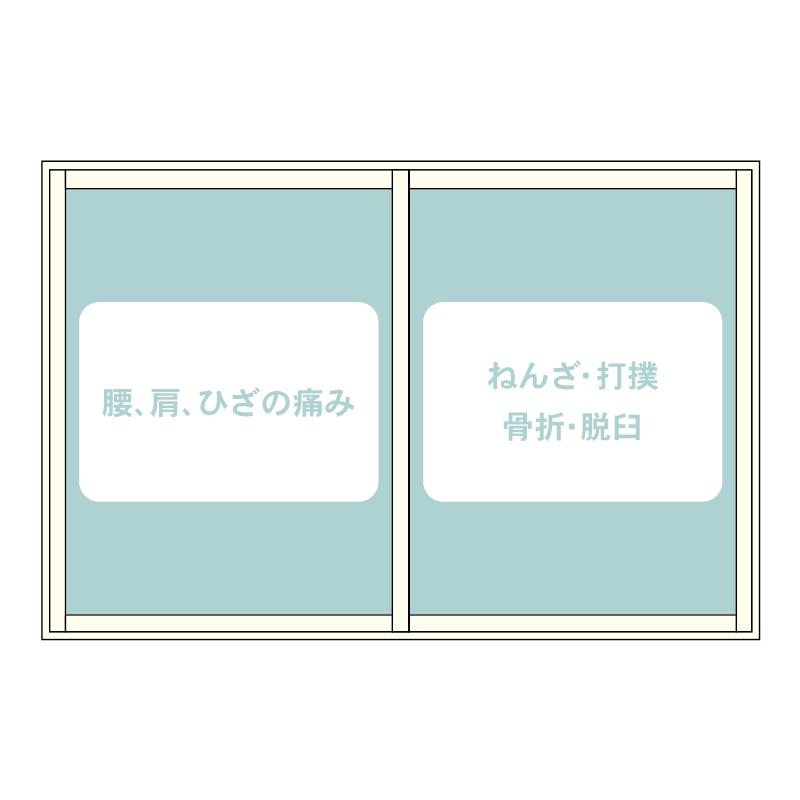 整骨院様窓デザイン M07